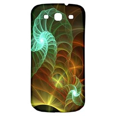 Art Shell Spirals Texture Samsung Galaxy S3 S Iii Classic Hardshell Back Case by Simbadda