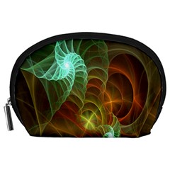 Art Shell Spirals Texture Accessory Pouches (large)  by Simbadda