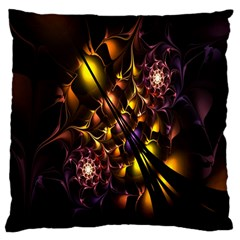 Art Design Image Oily Spirals Texture Large Cushion Case (one Side) by Simbadda