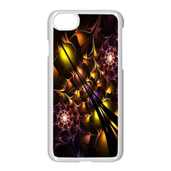Art Design Image Oily Spirals Texture Apple Iphone 7 Seamless Case (white) by Simbadda