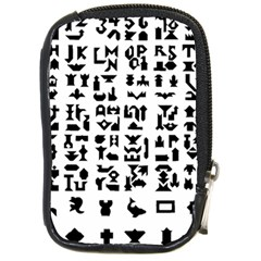 Anchor Puzzle Booklet Pages All Black Compact Camera Cases by Simbadda