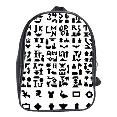 Anchor Puzzle Booklet Pages All Black School Bags (xl)  by Simbadda