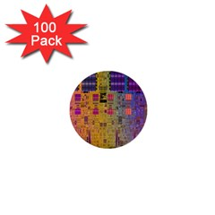 Circuit Board Pattern Lynnfield Die 1  Mini Buttons (100 Pack)  by Simbadda
