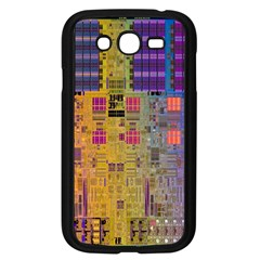Circuit Board Pattern Lynnfield Die Samsung Galaxy Grand Duos I9082 Case (black) by Simbadda
