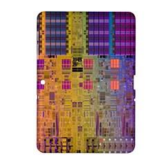 Circuit Board Pattern Lynnfield Die Samsung Galaxy Tab 2 (10 1 ) P5100 Hardshell Case  by Simbadda