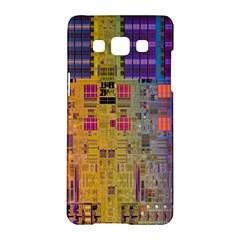 Circuit Board Pattern Lynnfield Die Samsung Galaxy A5 Hardshell Case  by Simbadda