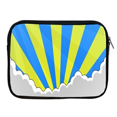 Sunlight Clouds Blue Sky Yellow White Apple Ipad 2/3/4 Zipper Cases by Alisyart