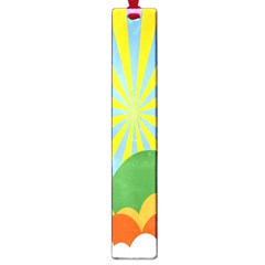 Sunlight Clouds Blue Yellow Green Orange White Sky Large Book Marks by Alisyart