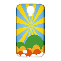 Sunlight Clouds Blue Yellow Green Orange White Sky Samsung Galaxy S4 Classic Hardshell Case (pc+silicone) by Alisyart