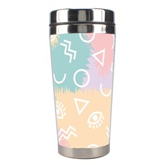 Triangle Circle Wave Eye Rainbow Orange Pink Blue Sign Stainless Steel Travel Tumblers by Alisyart
