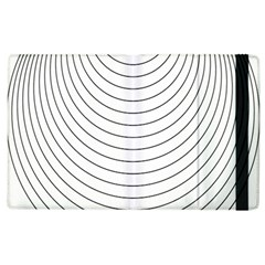 Wave Black White Line Apple Ipad 3/4 Flip Case by Alisyart