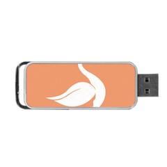 Swan Girl Face Hair Face Orange White Portable Usb Flash (two Sides) by Alisyart