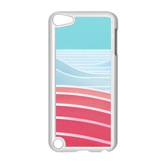 Wave Waves Blue Red Apple Ipod Touch 5 Case (white) by Alisyart