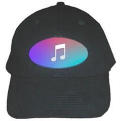Tunes Sign Orange Purple Blue White Music Notes Black Cap by Alisyart