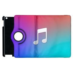 Tunes Sign Orange Purple Blue White Music Notes Apple Ipad 2 Flip 360 Case by Alisyart