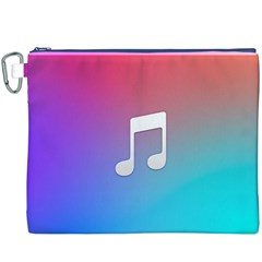 Tunes Sign Orange Purple Blue White Music Notes Canvas Cosmetic Bag (xxxl) by Alisyart
