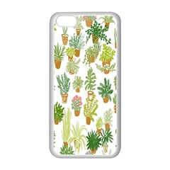 Flowers Pattern Apple Iphone 5c Seamless Case (white)