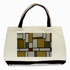 Fabric Textures Fabric Texture Vintage Blocks Rectangle Pattern Basic Tote Bag by Simbadda