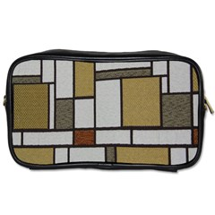 Fabric Textures Fabric Texture Vintage Blocks Rectangle Pattern Toiletries Bags by Simbadda