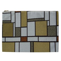 Fabric Textures Fabric Texture Vintage Blocks Rectangle Pattern Cosmetic Bag (xxl)  by Simbadda