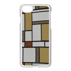 Fabric Textures Fabric Texture Vintage Blocks Rectangle Pattern Apple Iphone 7 Seamless Case (white) by Simbadda