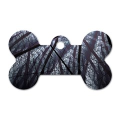 Fractal Art Picture Definition  Fractured Fractal Texture Dog Tag Bone (one Side) by Simbadda