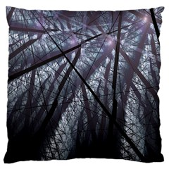 Fractal Art Picture Definition  Fractured Fractal Texture Large Cushion Case (two Sides) by Simbadda