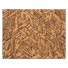 Mechanical Tech Pattern Rectangular Jigsaw Puzzl by Simbadda
