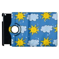 Sunshine Tech Blue Apple iPad 2 Flip 360 Case by Simbadda