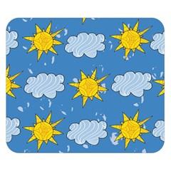 Sunshine Tech Blue Double Sided Flano Blanket (small)  by Simbadda