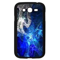Ghost Fractal Texture Skull Ghostly White Blue Light Abstract Samsung Galaxy Grand Duos I9082 Case (black) by Simbadda