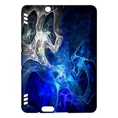 Ghost Fractal Texture Skull Ghostly White Blue Light Abstract Kindle Fire Hdx Hardshell Case by Simbadda