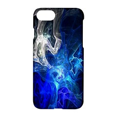 Ghost Fractal Texture Skull Ghostly White Blue Light Abstract Apple Iphone 7 Hardshell Case by Simbadda
