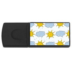 Sunshine Tech White Usb Flash Drive Rectangular (4 Gb) by Simbadda