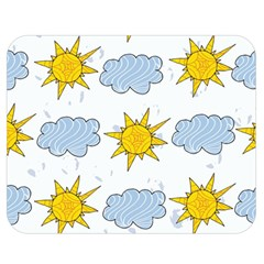 Sunshine Tech White Double Sided Flano Blanket (medium)  by Simbadda