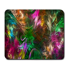 Fractal Texture Abstract Messy Light Color Swirl Bright Large Mousepads by Simbadda