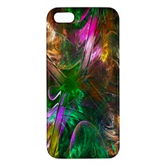 Fractal Texture Abstract Messy Light Color Swirl Bright Iphone 5s/ Se Premium Hardshell Case by Simbadda