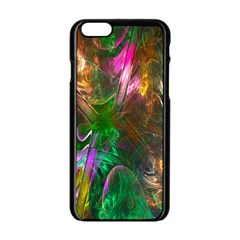 Fractal Texture Abstract Messy Light Color Swirl Bright Apple Iphone 6/6s Black Enamel Case by Simbadda