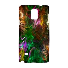 Fractal Texture Abstract Messy Light Color Swirl Bright Samsung Galaxy Note 4 Hardshell Case by Simbadda