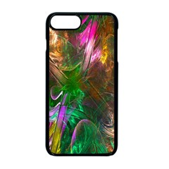Fractal Texture Abstract Messy Light Color Swirl Bright Apple iPhone 7 Plus Seamless Case (Black) by Simbadda