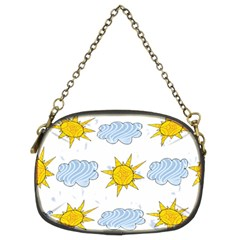 Sunshine Tech White Chain Purses (two Sides)