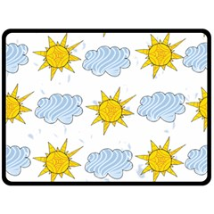 Sunshine Tech White Double Sided Fleece Blanket (large)  by Simbadda