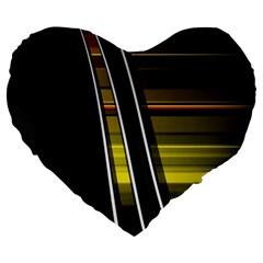 Abstract Multicolor Vectors Flow Lines Graphics Large 19  Premium Heart Shape Cushions by Onesevenart