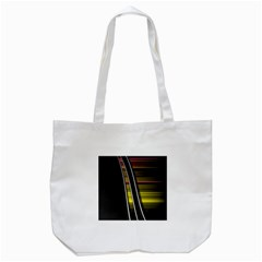 Abstract Multicolor Vectors Flow Lines Graphics Tote Bag (white) by Onesevenart