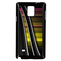 Abstract Multicolor Vectors Flow Lines Graphics Samsung Galaxy Note 4 Case (black) by Onesevenart