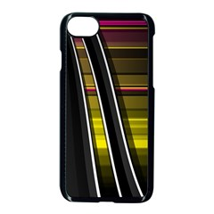 Abstract Multicolor Vectors Flow Lines Graphics Apple Iphone 7 Seamless Case (black) by Onesevenart