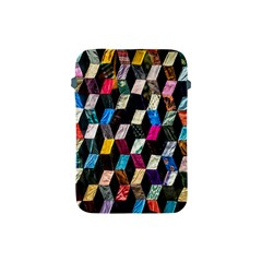 Abstract Multicolor Cubes 3d Quilt Fabric Apple Ipad Mini Protective Soft Cases by Onesevenart