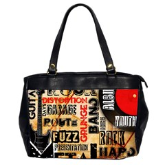 Guitar Typography Office Handbags (2 Sides)  by Onesevenart