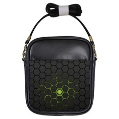 Green Android Honeycomb Gree Girls Sling Bags by Onesevenart