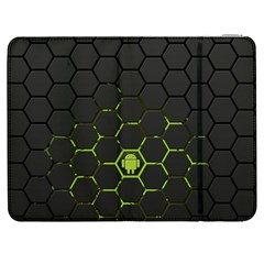 Green Android Honeycomb Gree Samsung Galaxy Tab 7  P1000 Flip Case by Onesevenart